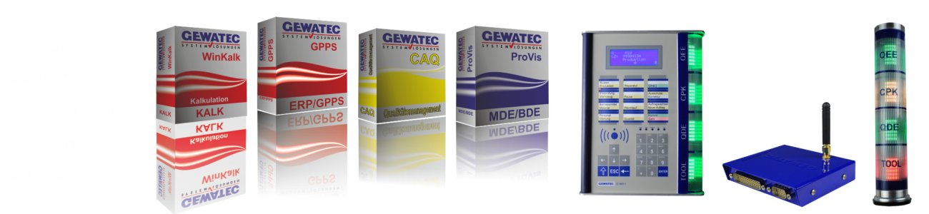 GEWATEC Softwaremodule und Industrie PCs
